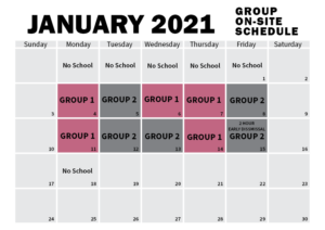 January Group Calendar