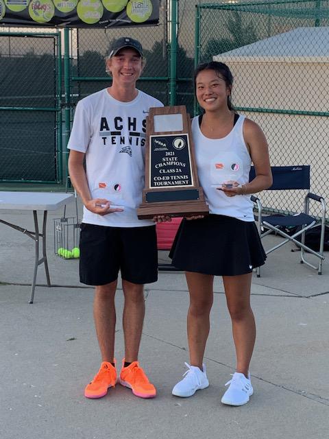 tennis co-ed team wins state championship