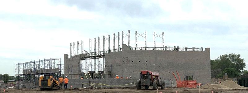 construction on a school building