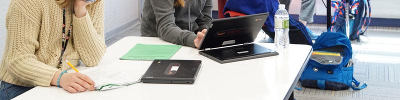 Students chromebooks
